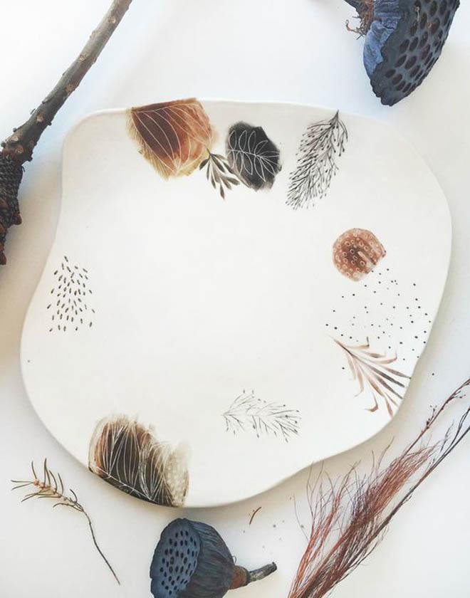 оригинальная фарфоровая тарелка