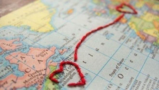 сердечки на карте