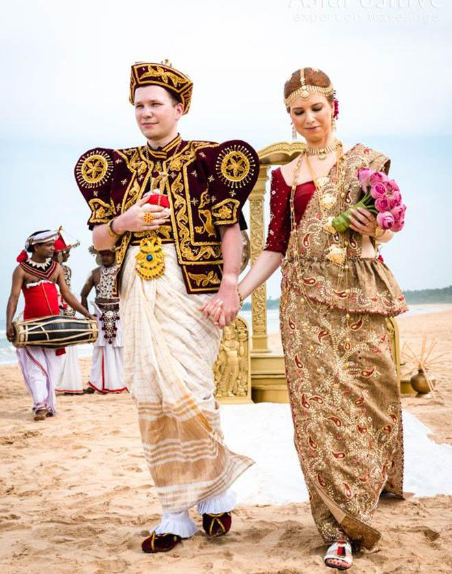 свадебная церемония в Шри Ланка