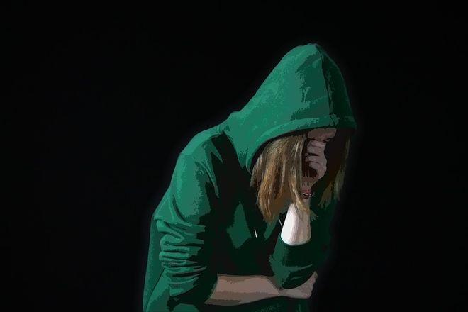 Печальная девушка