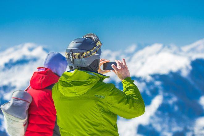 На лыжах в горах