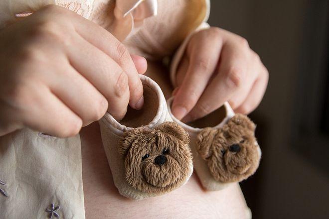Тапочки для новорожденного