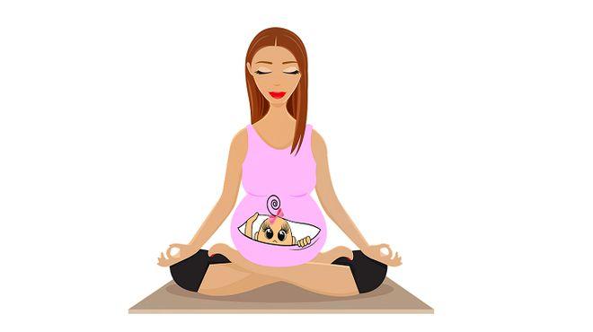Рисунок беременная девушка
